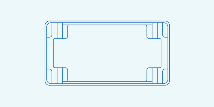 Compass fibreglass pool shape Contemporary 8.3 1