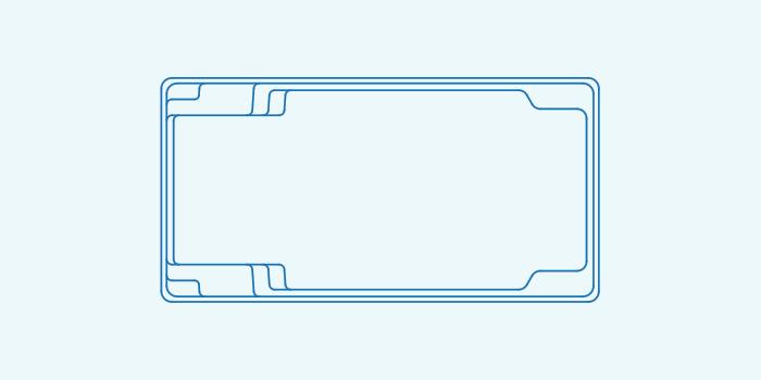 Compass fibreglass pool shape X Trainer 8.2