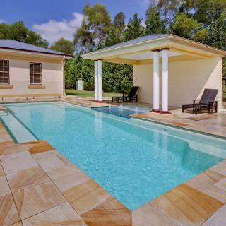 Beautiful Vogue fibreglass pool and spa combo