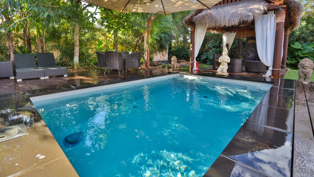 A Balinese style compact plunge pool