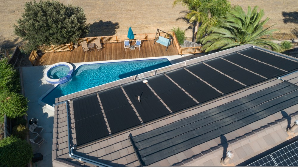 Solar pool heating is popular in QLD